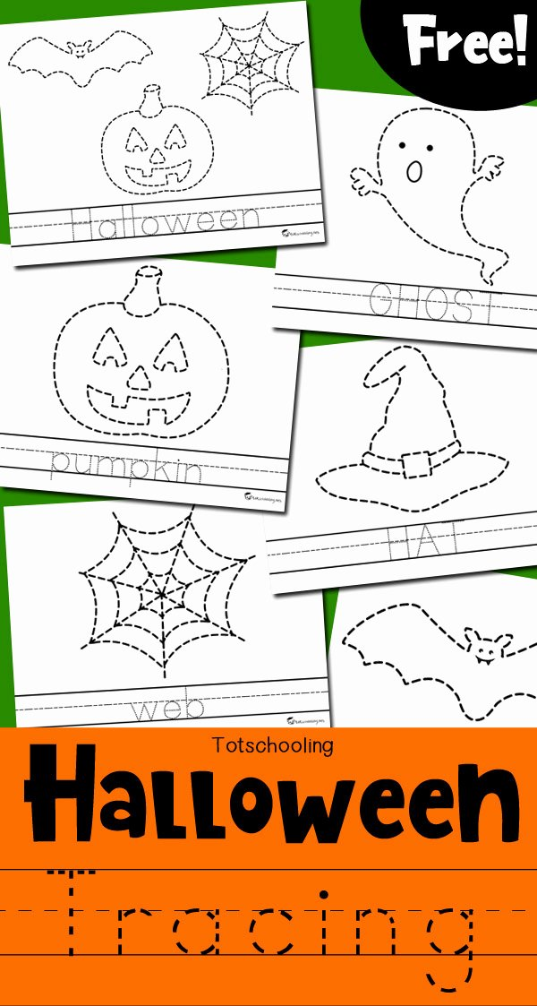 Halloween Printable Worksheets for Preschoolers top Halloween Tracing Worksheets