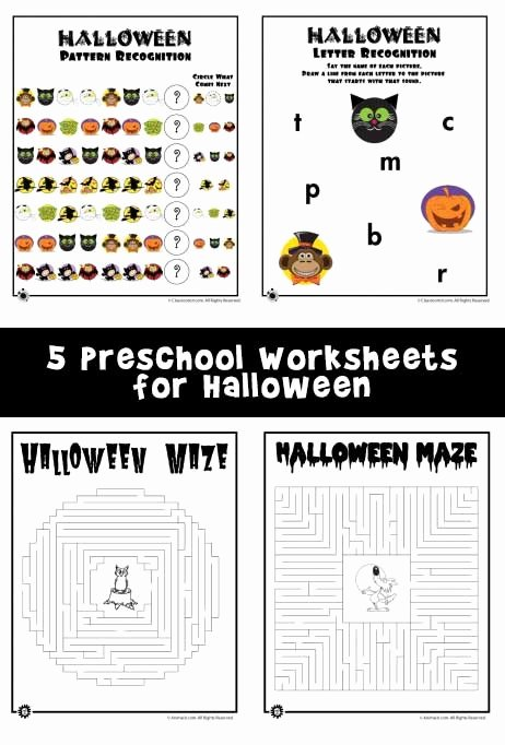 Halloween themed Worksheets for Preschoolers Beautiful Preschool Worksheets for Halloween