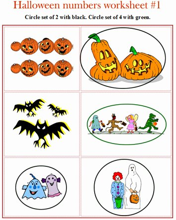 Halloween themed Worksheets for Preschoolers Best Of Halloween Math Worksheets for Pre K and Kindergarten Color