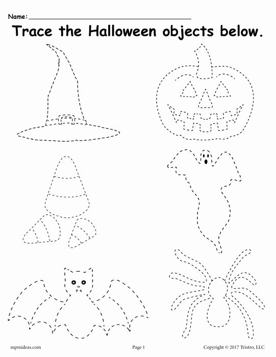 Halloween themed Worksheets for Preschoolers Best Of Printable Halloween Tracing Worksheet