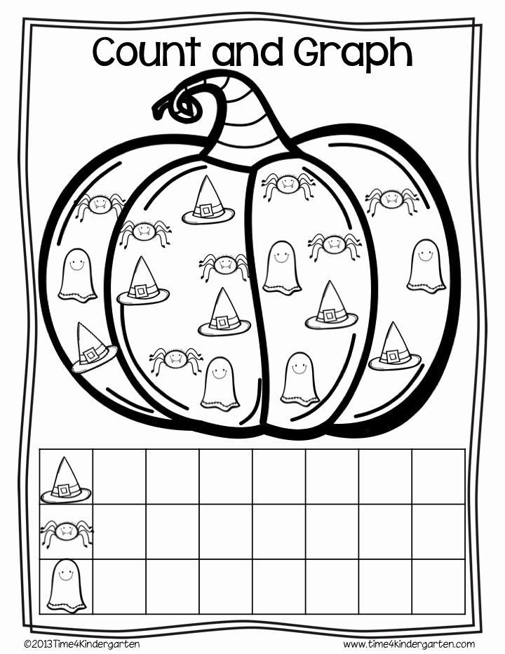 Halloween themed Worksheets for Preschoolers Fresh Halloween Math Worksheets and Centers for Kindergarten
