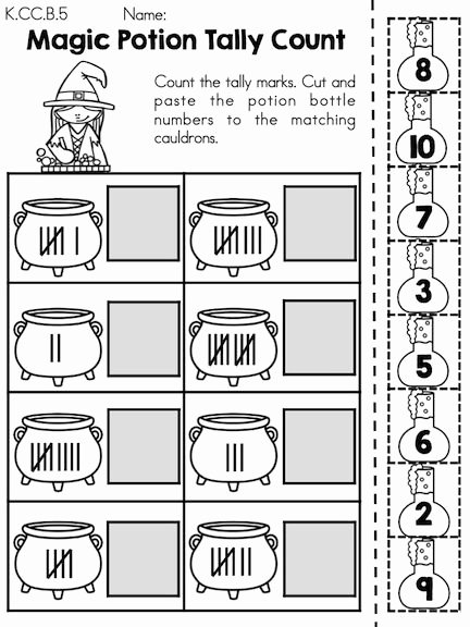 Halloween themed Worksheets for Preschoolers Unique Halloween Math Worksheets Kindergarten themed Times Table