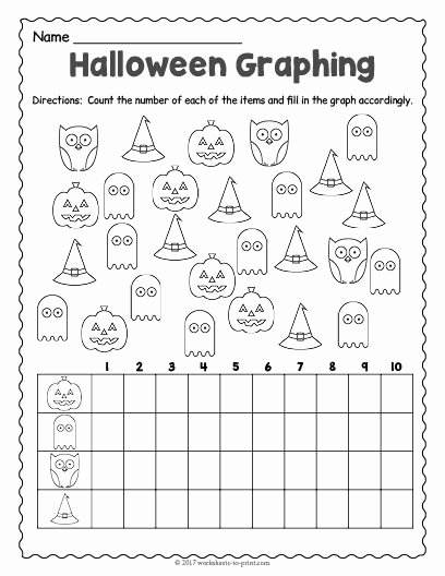 Halloween Worksheets for Preschoolers Beautiful Free Printable Halloween Graphing Worksheet Worksheets 2nd