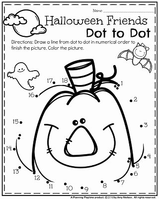 Halloween Worksheets for Preschoolers Best Of October Preschool Worksheets Planning Playtime
