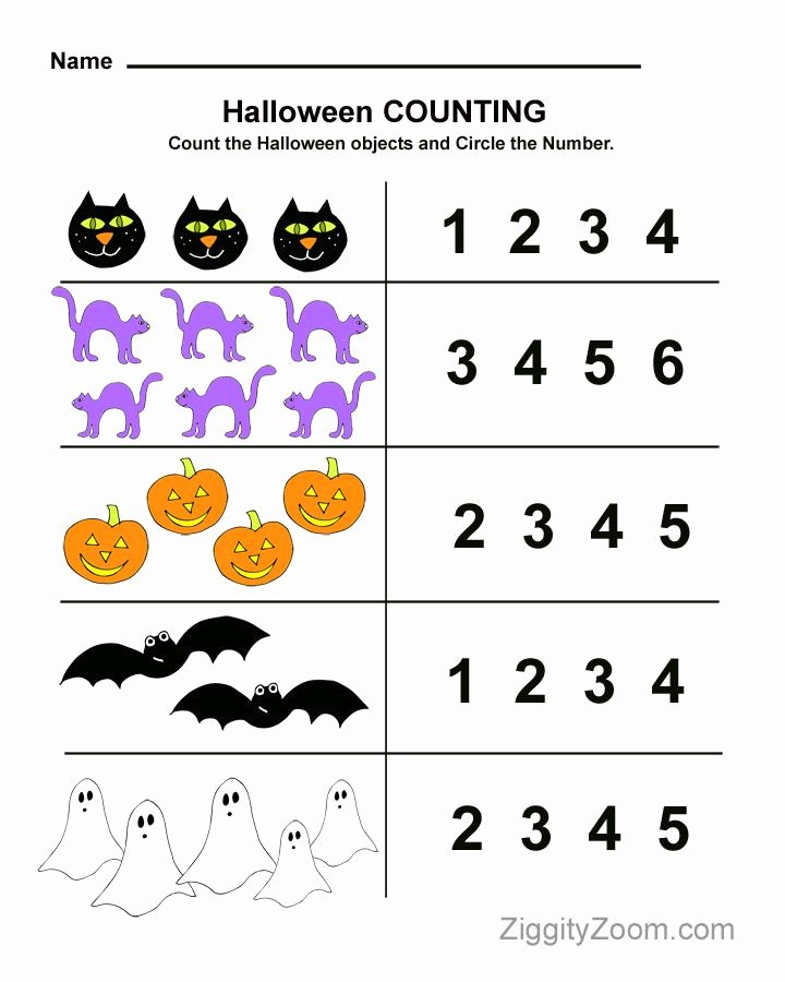 Halloween Worksheets for Preschoolers Fresh Halloween Preschool Worksheet for Counting Practice
