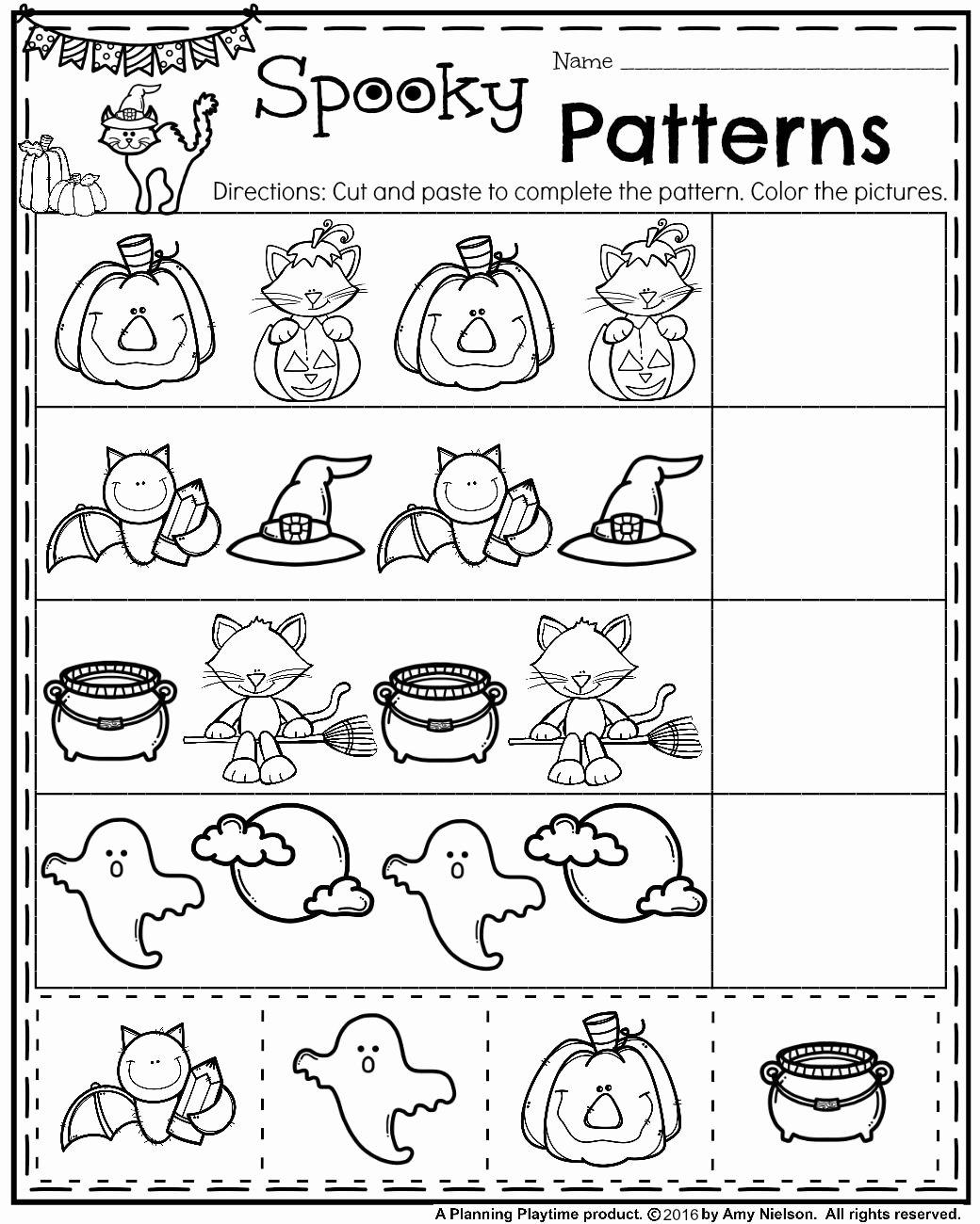 Halloween Worksheets for Preschoolers Fresh October Preschool Worksheets Planning Playtime