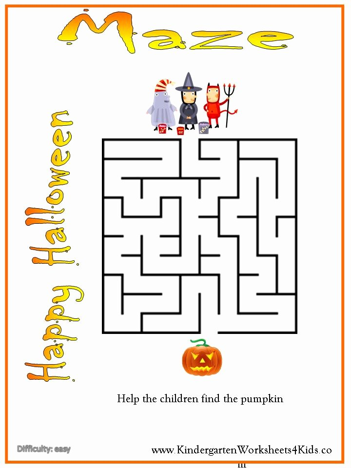 Halloween Worksheets for Preschoolers Inspirational Preschool Worksheet Halloween Maze Preschool Activities