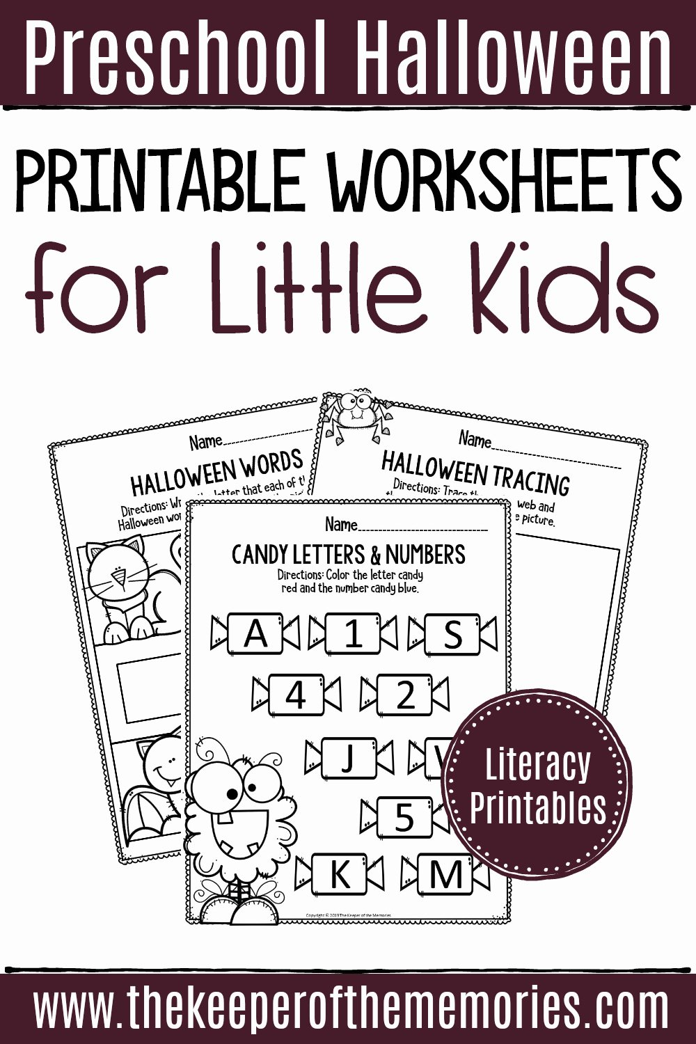Halloween Worksheets for Preschoolers Inspirational Printable Literacy Halloween Preschool Worksheets