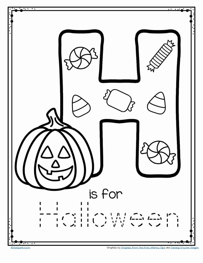 Halloween Worksheets for Preschoolers Lovely Free is for Halloween Tracing and Coloring Alphabet