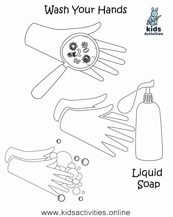 Hand Washing Worksheets for Preschoolers Best Of Free Hand Washing Coloring Pages for Preschoolers Kids