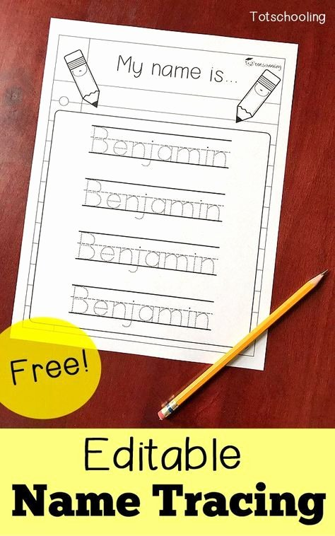 Handwriting Name Worksheets for Preschoolers Inspirational Free Editable Name Tracing Printable Homeschool Giveaways