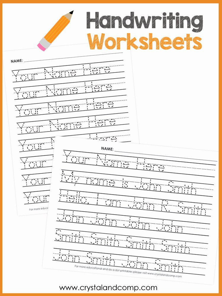 Handwriting Name Worksheets for Preschoolers Lovely Worksheet Name Handwriting Worksheets Preview Worksheet