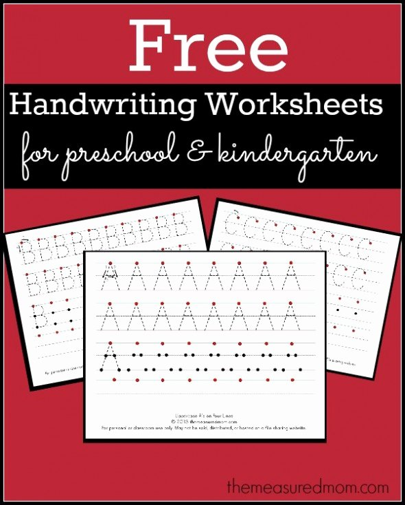 Handwriting Worksheets for Preschoolers Lovely Level 3 Handwriting Worksheets Uppercase the Measured Mom