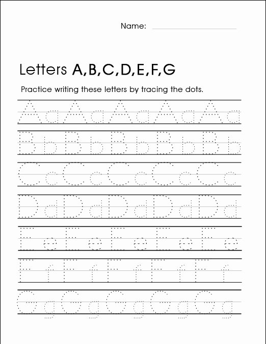 Handwriting Worksheets for Preschoolers New Worksheets Kindergarten Handwriting Worksheets Best