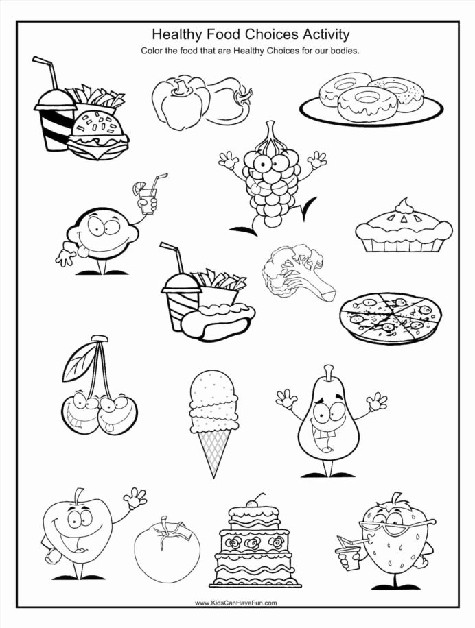 Healthy Habits Worksheets for Preschoolers Inspirational Go Foods Coloring Healthy Food Habits Worksheets