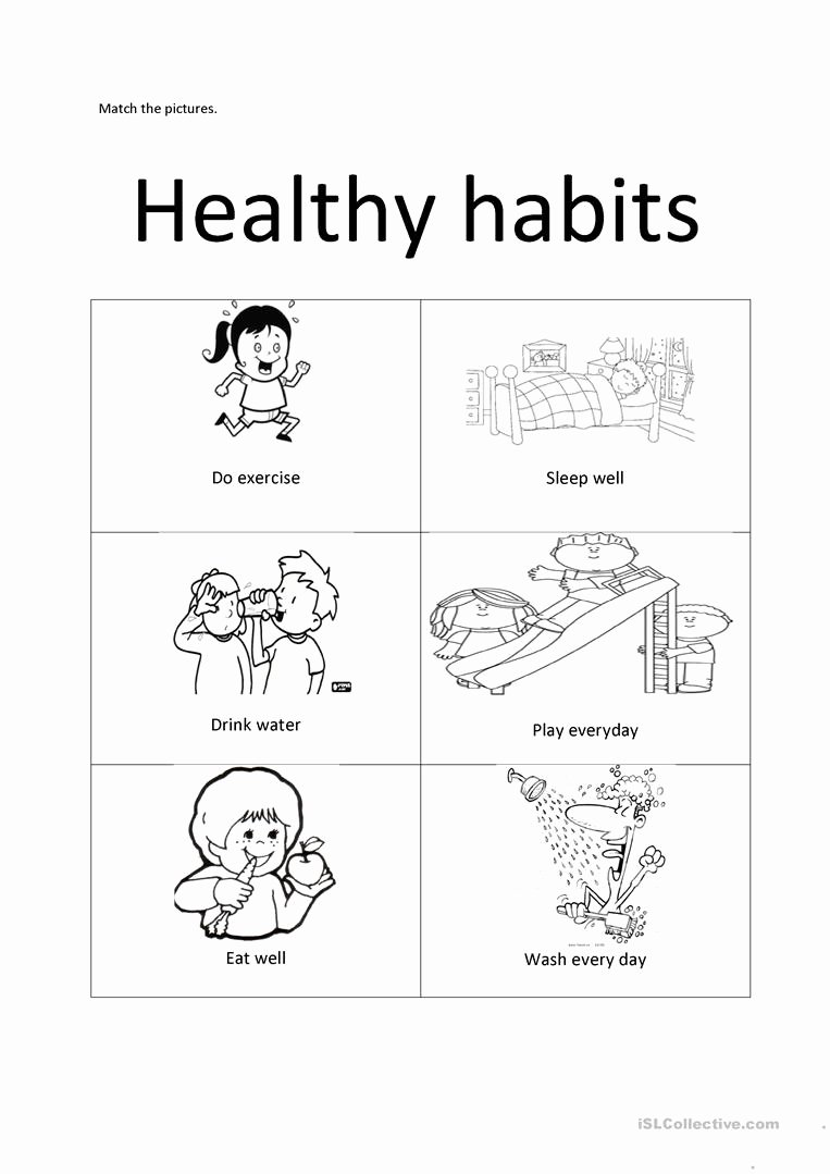 healthy habits english esl worksheets for distance learning and worksheet templates