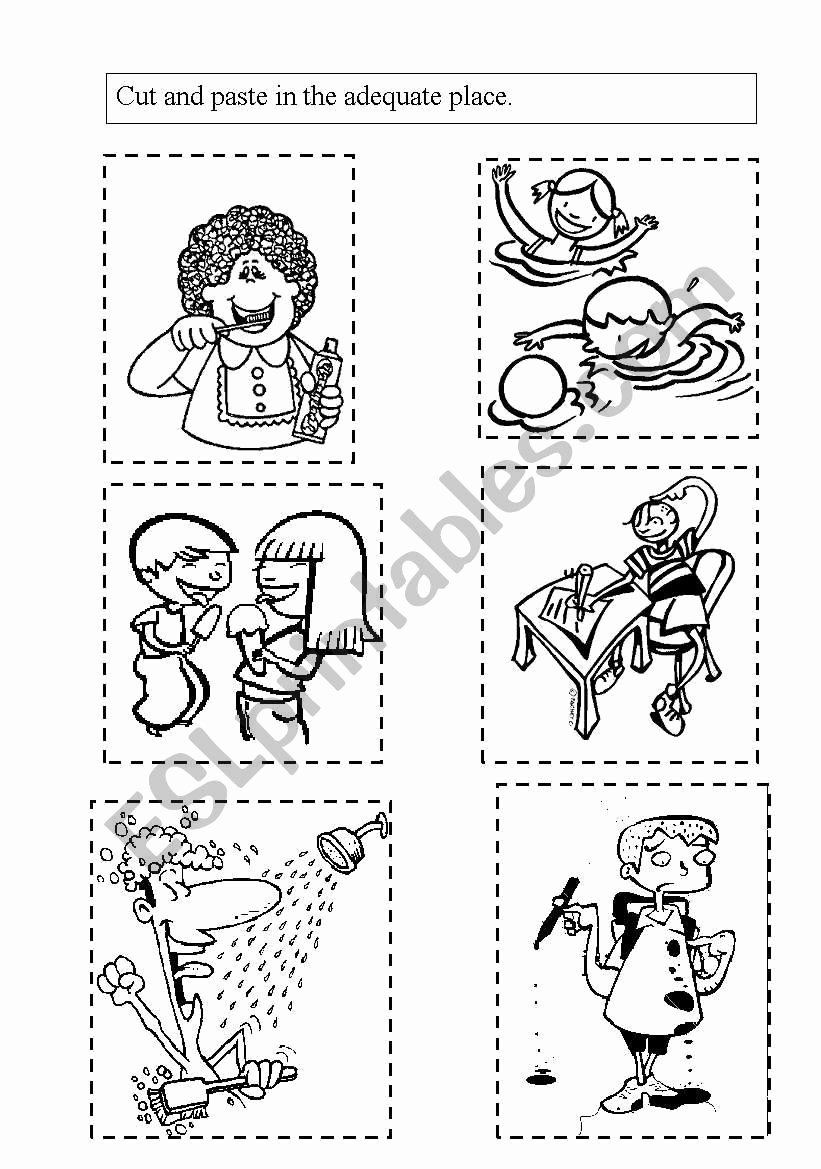 Healthy Habits Worksheets for Preschoolers Unique Healthy Habits Esl Worksheet by Mariakris
