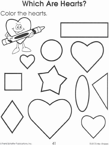 Heart Shape Worksheets for Preschoolers Awesome Heart Worksheet
