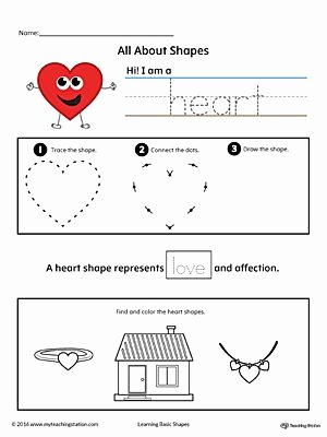 Heart Shape Worksheets for Preschoolers Inspirational All About Heart Shapes In Color