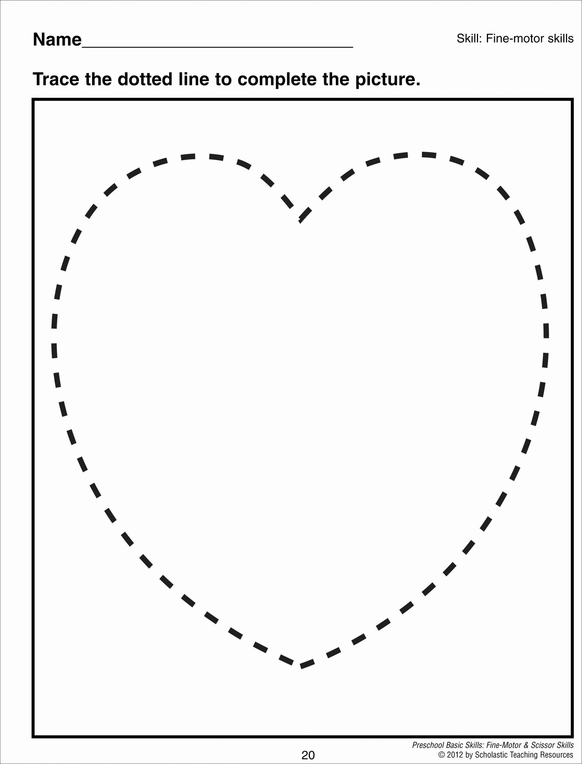 Heart Shape Worksheets for Preschoolers New Heart Shape Tracing