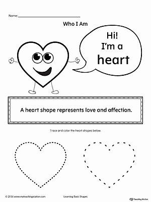 Heart Worksheets for Preschoolers Best Of Learning Basic Geometric Shape Heart