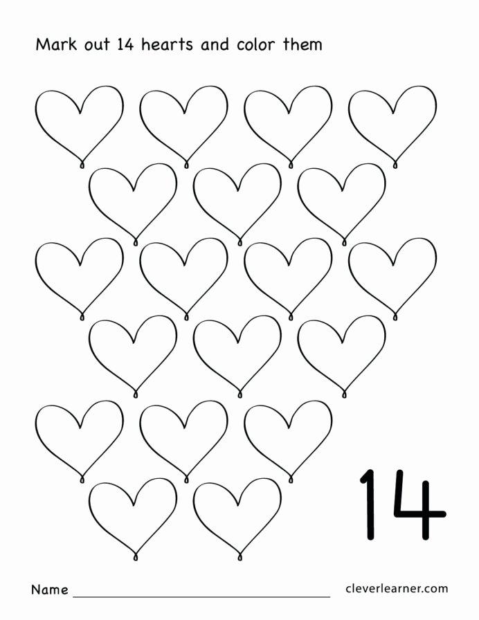 Heart Worksheets for Preschoolers Inspirational Heart Worksheets for Preschoolers Free Printable