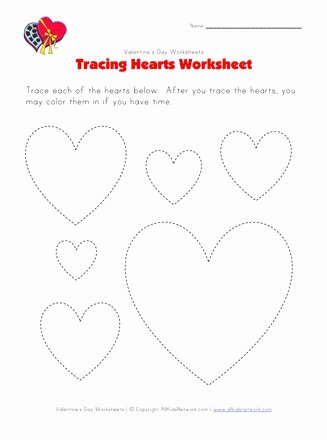 Heart Worksheets for Preschoolers Lovely Heart Tracing Worksheet