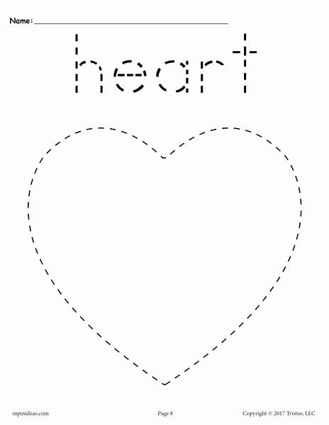 Heart Worksheets for Preschoolers Unique Heart Tracing Worksheet