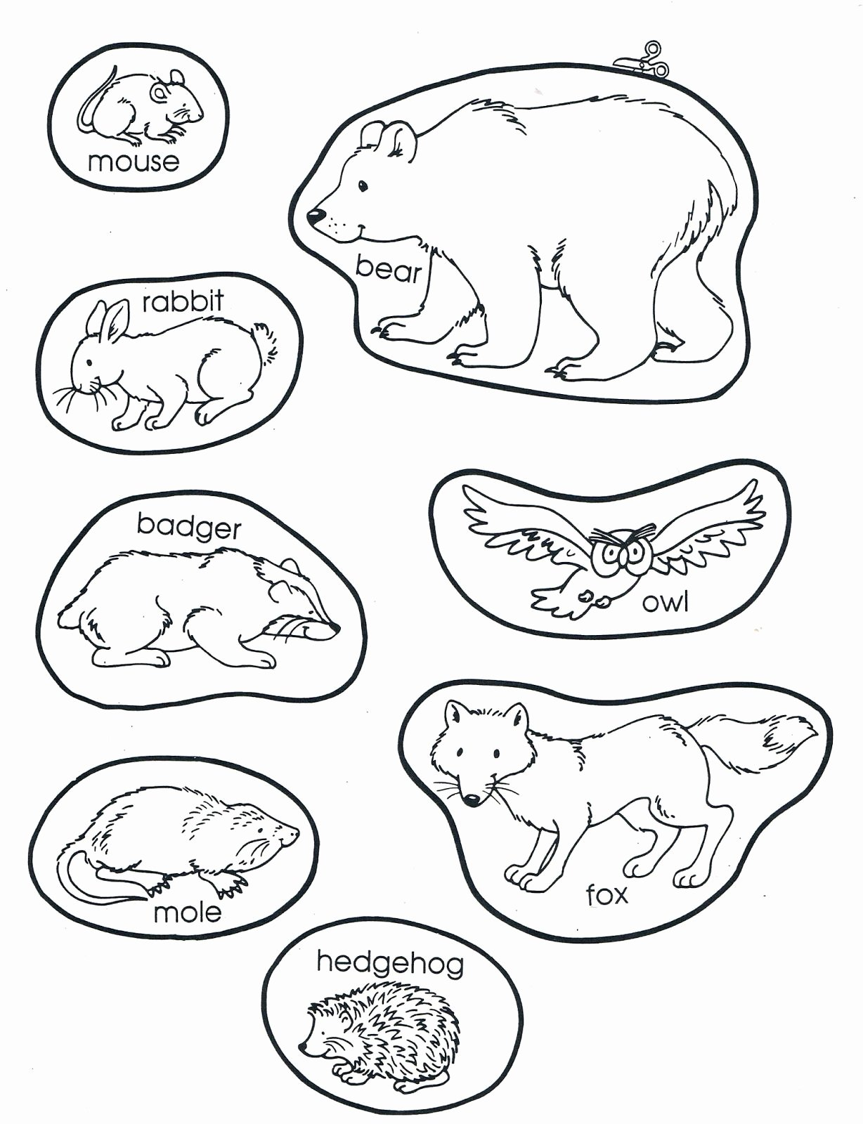 Hibernation Worksheets for Preschoolers top the Mitten Animals Preschool Books Winter Kindergarten