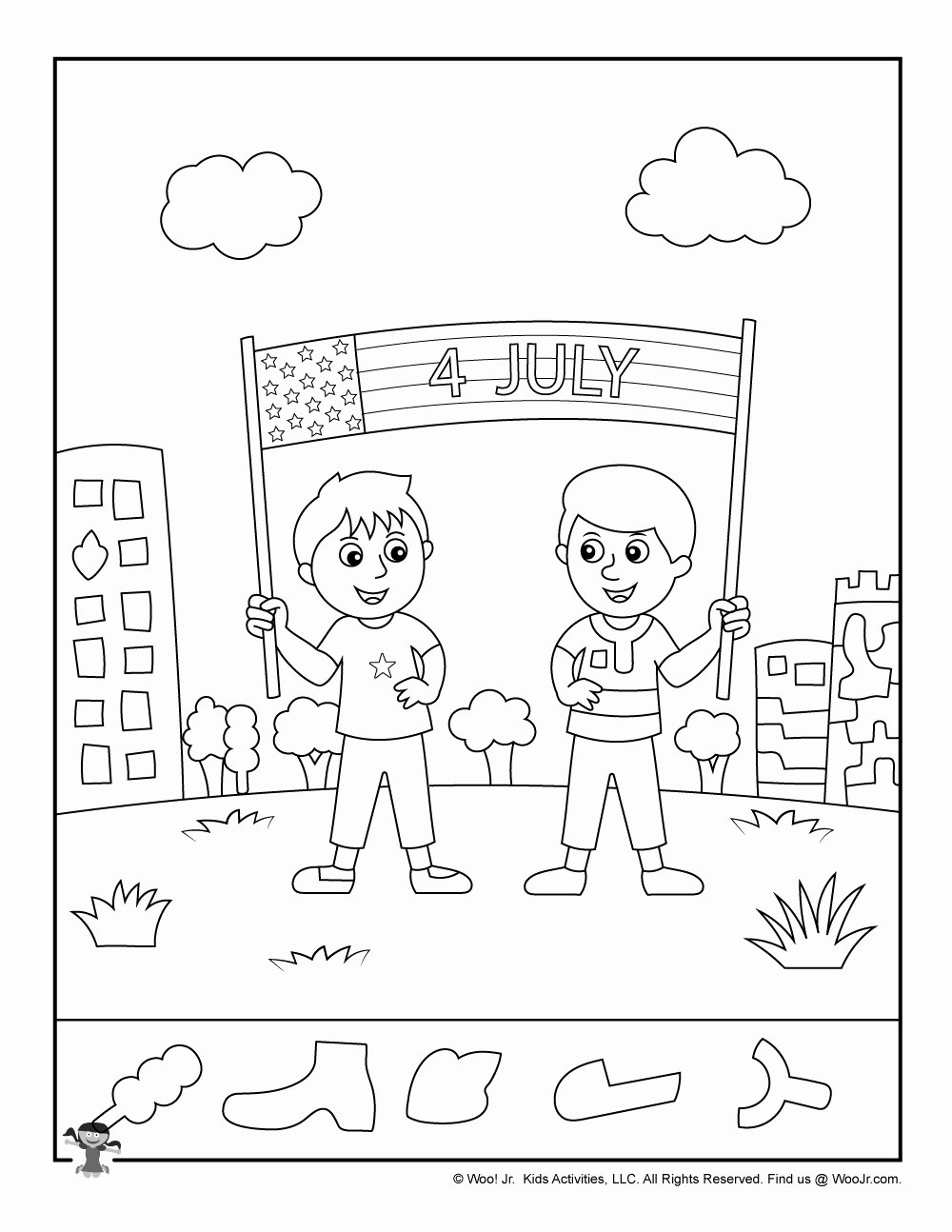 Hidden Objects Worksheets for Preschoolers Awesome 4th Of July Flag Hidden Picture Worksheet