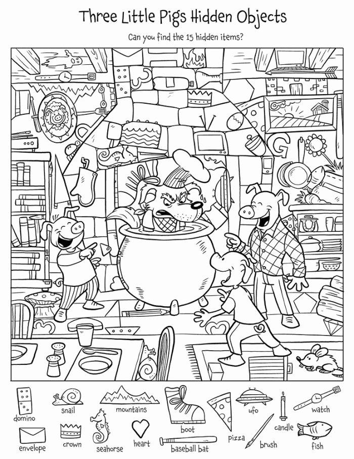 Hidden Objects Worksheets for Preschoolers Awesome Find the Hidden Objects Worksheets
