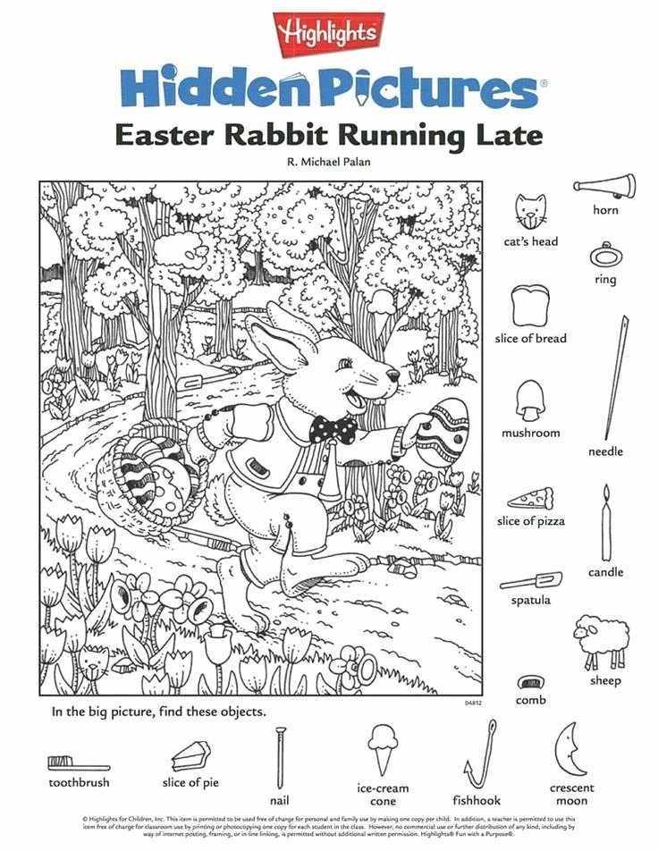 Hidden Objects Worksheets for Preschoolers Best Of Engaging Hidden Kittybabylove Worksheets Easter