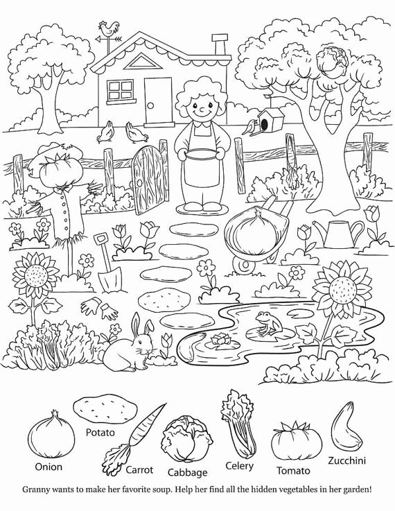 Hidden Objects Worksheets for Preschoolers Lovely Printable Hidden Objects Coloring Pages