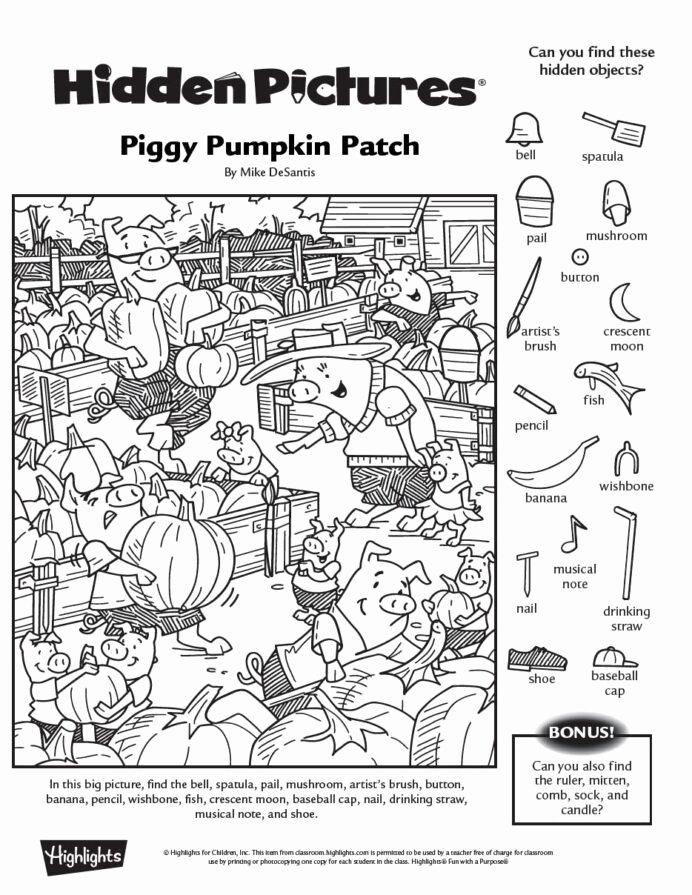 Hidden Objects Worksheets for Preschoolers New Halloween Hidden Worksheets Math Games Equivalent