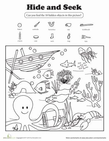 Hidden Objects Worksheets for Preschoolers New Pin by Jen soechting On Pre K Worksheets