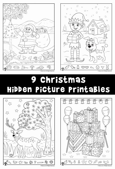 Hidden Picture Worksheets for Preschoolers Awesome Christmas Hidden Printables for Kids