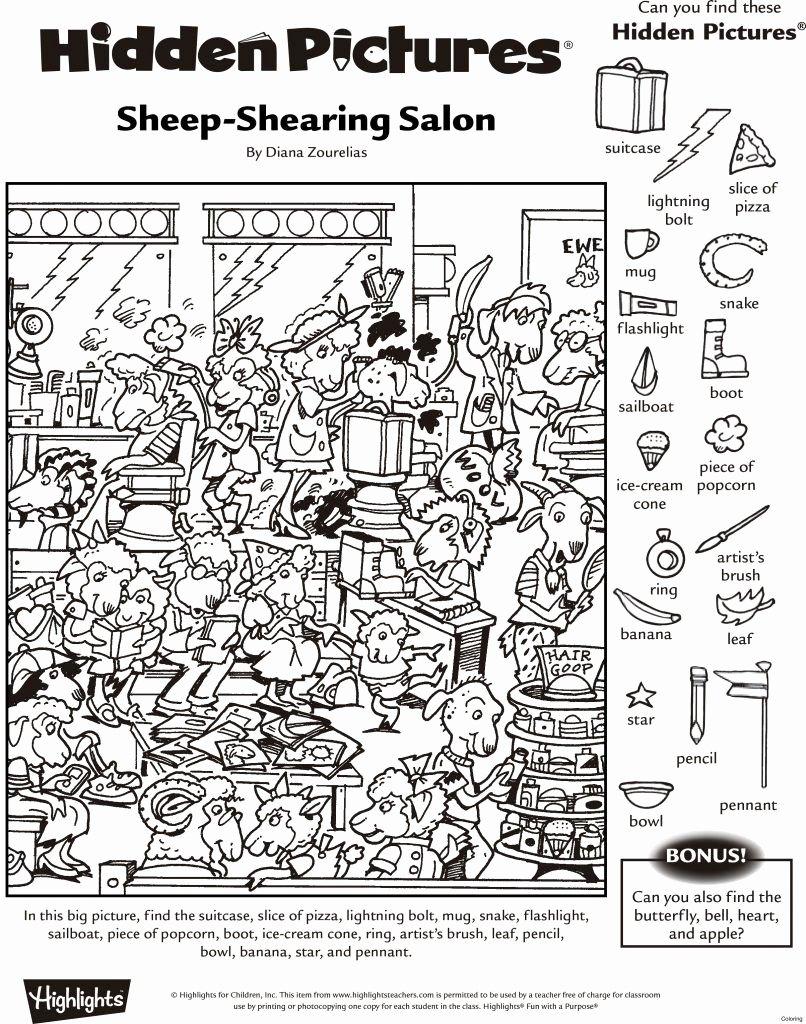 Hidden Picture Worksheets for Preschoolers Beautiful Hidden Printable Fresh Printable Hidden Worksheets