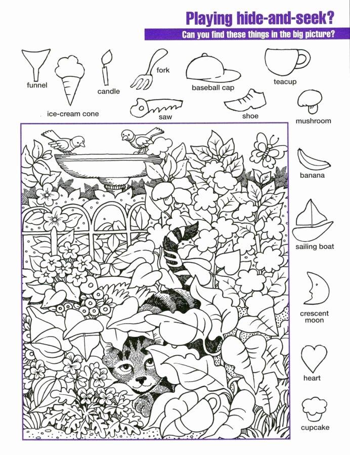 Hidden Picture Worksheets for Preschoolers Beautiful Hidden Worksheets Printable Activity Shelter