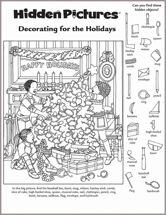 Hidden Picture Worksheets for Preschoolers Fresh Hidden Picture Worksheet for Middle School
