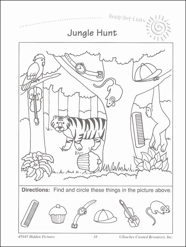 Hidden Picture Worksheets for Preschoolers Inspirational Easy Hidden Picture Worksheets