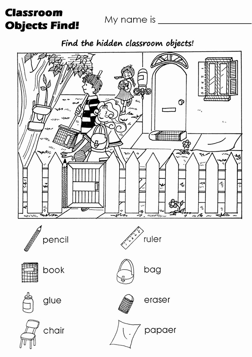 Hidden Picture Worksheets for Preschoolers Lovely Free Hidden Worksheets Activity Shelter Objects
