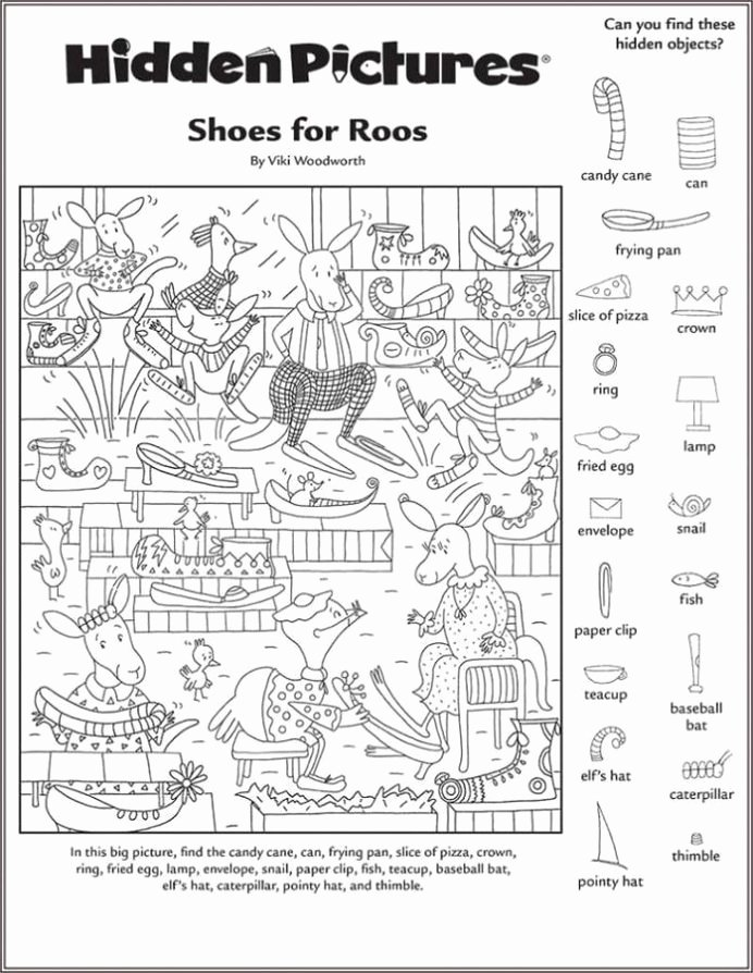 Hidden Picture Worksheets for Preschoolers New Hidden Worksheets Printable Shelter Free In with
