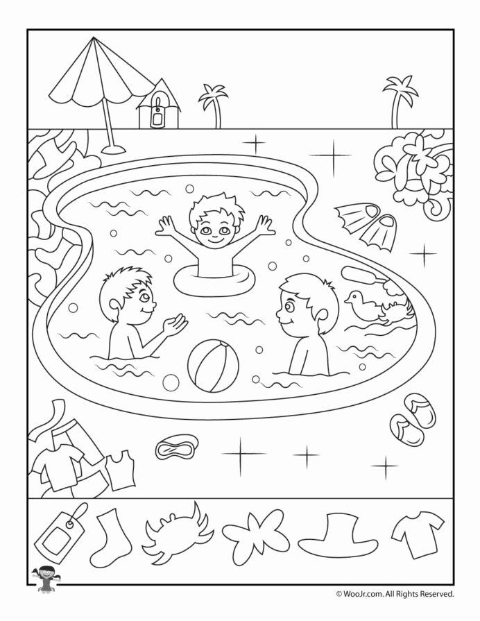 Hidden Picture Worksheets for Preschoolers New Pool Hidden Objects Worksheet Woo Jr Kids Activities