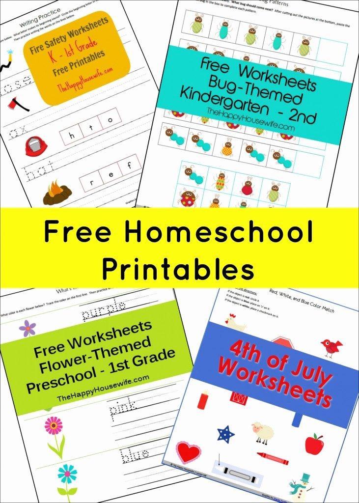Homeschooling Worksheets for Preschoolers Awesome Free Homeschool Printables the Happy Housewife™ Home