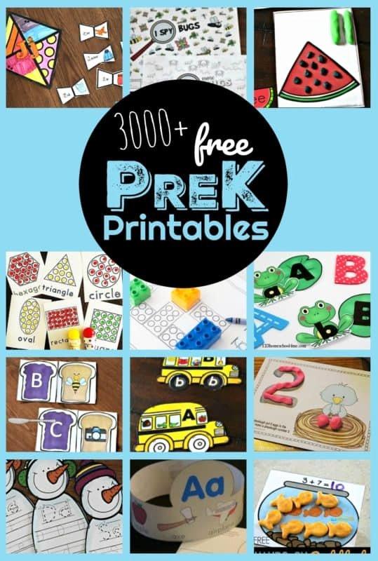 Homeschooling Worksheets for Preschoolers Fresh 3000 Free Pre K Worksheets