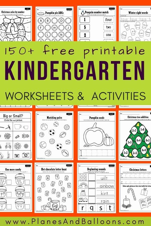 Homeschooling Worksheets for Preschoolers top 400 Free Printable Worksheets for Kindergarten Instant