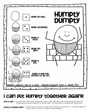 Humpty Dumpty Worksheets for Preschoolers Fresh Humpty Dumpty Actives for Preschool
