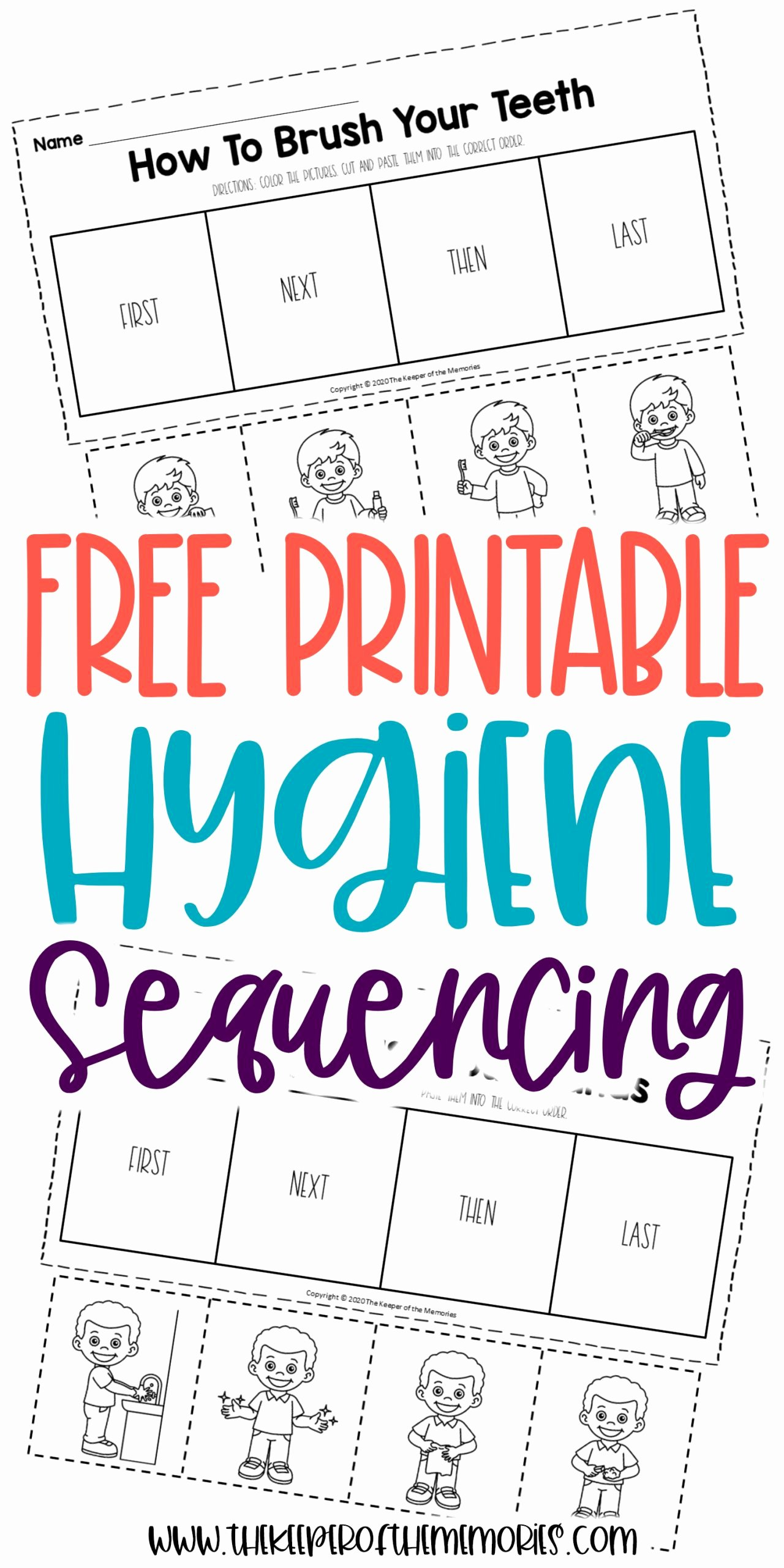 Hygiene Worksheets for Preschoolers Unique Free Printable Preschool Sequencing Worksheets