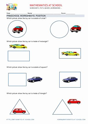 In and Out Worksheets for Preschoolers Beautiful Preschool Position Worksheets Outside Inside On the Left