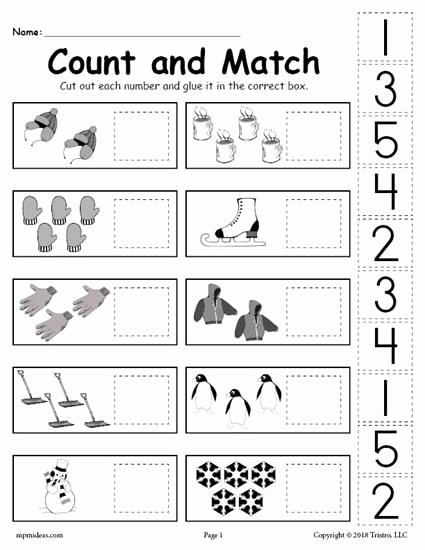 In and Out Worksheets for Preschoolers Lovely Free Cut and Paste Worksheets Worksheet Math Christmas